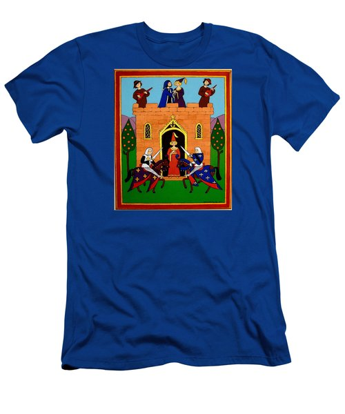 Men's T-Shirt (Slim Fit) featuring the painting Seige Of The Castle Of Love by Stephanie Moore