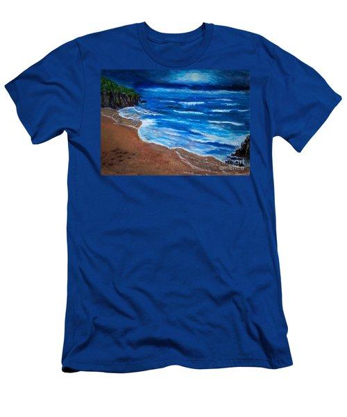 Serene Seashore Men's T-Shirt (Athletic Fit)