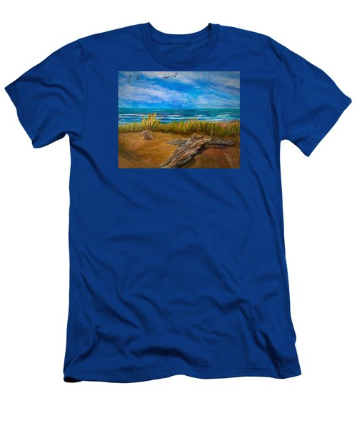 Serenity On A Florida Beach Men's T-Shirt (Athletic Fit)