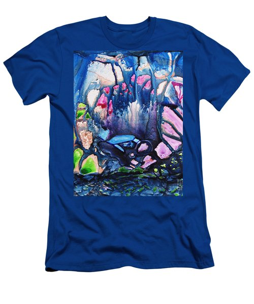 Shades Of Tiffany Men's T-Shirt (Slim Fit) by Joan Hartenstein