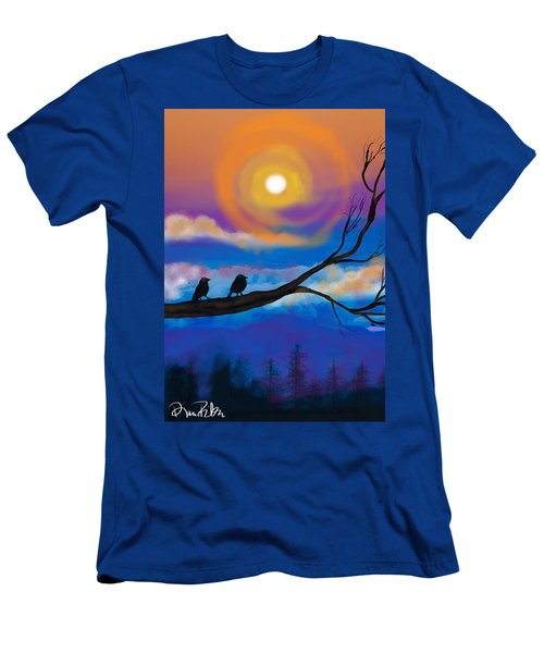 Men's T-Shirt (Slim Fit) featuring the digital art Sharing The Sunset-2 by Diana Riukas