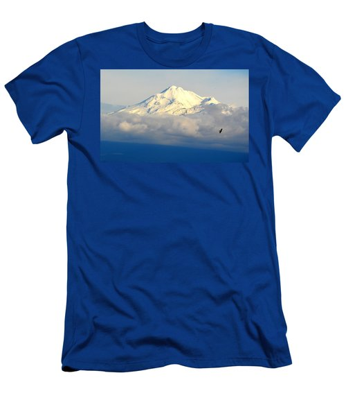 Shasta Near Sunset Men's T-Shirt (Slim Fit) by AJ Schibig