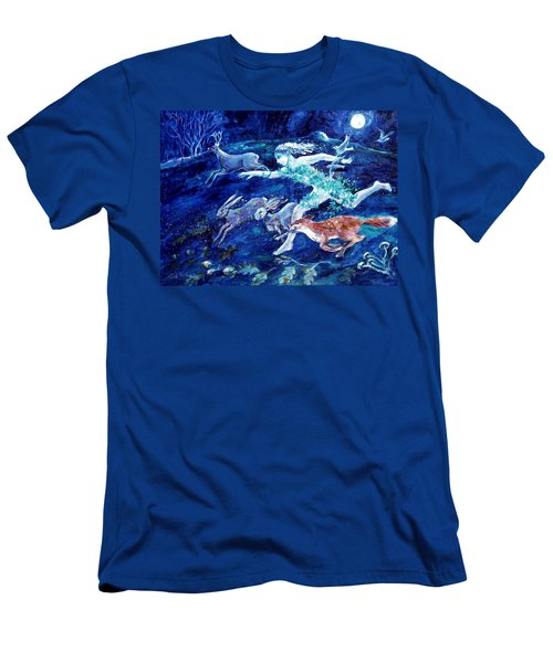 She Ran With The Hunted  Men's T-Shirt (Slim Fit) by Trudi Doyle