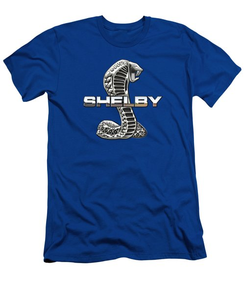 Shelby Cobra - 3d Badge Men's T-Shirt (Slim Fit) by Serge Averbukh