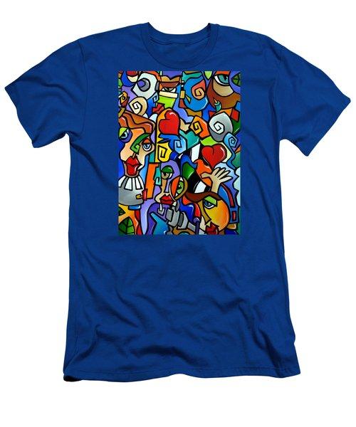 Side Show Men's T-Shirt (Slim Fit) by Tom Fedro - Fidostudio