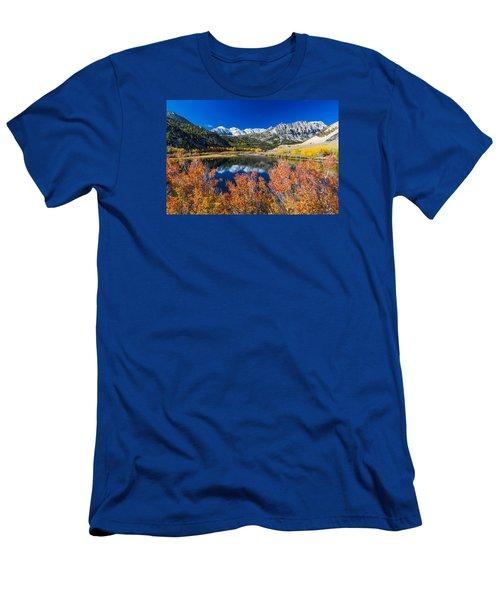Sierra Foliage Men's T-Shirt (Slim Fit) by Tassanee Angiolillo