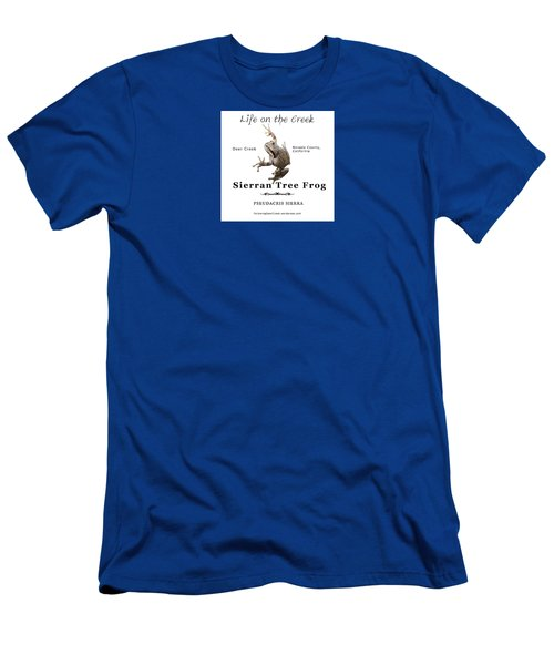 Sierran Tree Frog - Photo Frog, Black Text Men's T-Shirt (Athletic Fit)