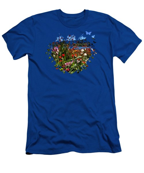 Siuslaw River Floral Men's T-Shirt (Slim Fit) by Thom Zehrfeld