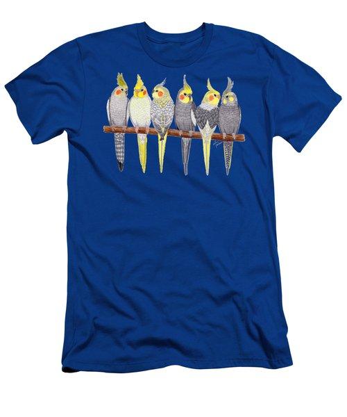 Six Cockatiels Men's T-Shirt (Athletic Fit)