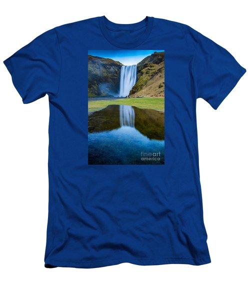Skogafoss 2 Men's T-Shirt (Slim Fit) by Mariusz Czajkowski