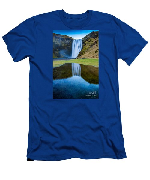 Skogafoss 2 Men's T-Shirt (Athletic Fit)