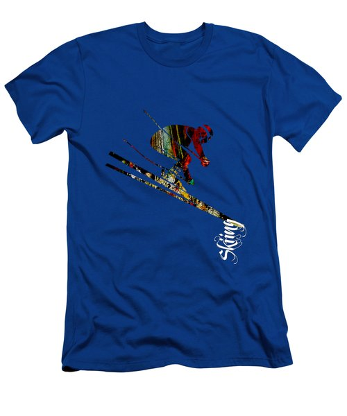 Skiing Collection Men's T-Shirt (Slim Fit) by Marvin Blaine