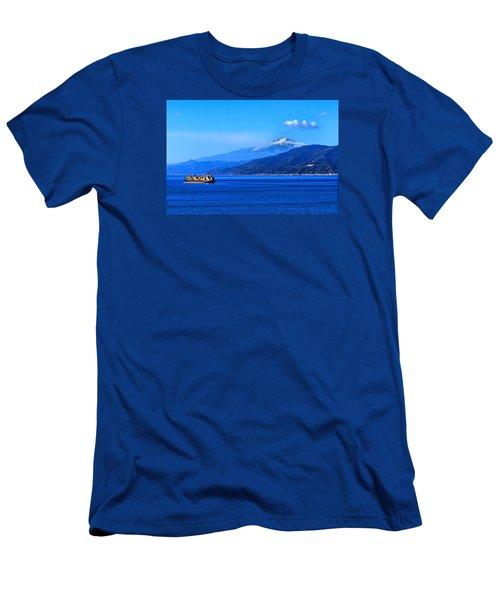 Sleeping Giant Men's T-Shirt (Slim Fit) by Laura Ragland