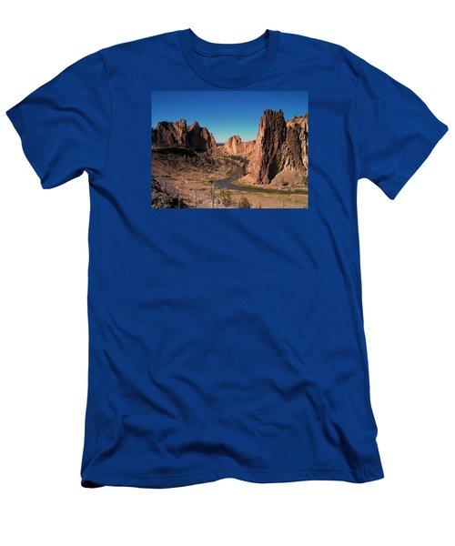 Smith Rock Men's T-Shirt (Slim Fit) by Lori Seaman
