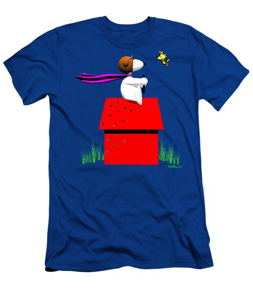 Snoopy Evades The Red Baron Men's T-Shirt (Athletic Fit)