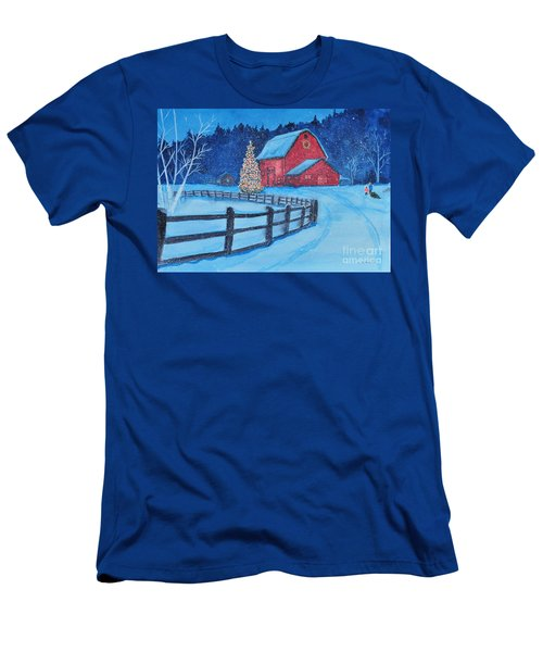 Snow On Christmas Eve Men's T-Shirt (Athletic Fit)