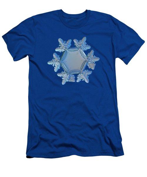 Snowflake Photo - Sunflower Men's T-Shirt (Slim Fit) by Alexey Kljatov