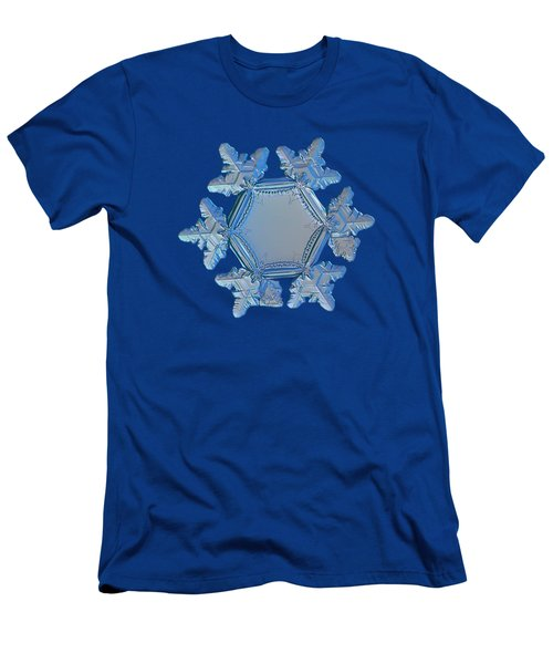 Men's T-Shirt (Athletic Fit) featuring the photograph Snowflake Photo - Sunflower by Alexey Kljatov