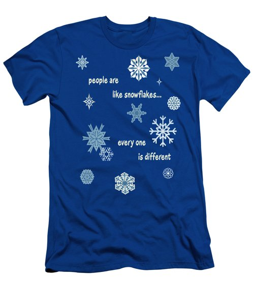 Snowflakes 5 Men's T-Shirt (Athletic Fit)