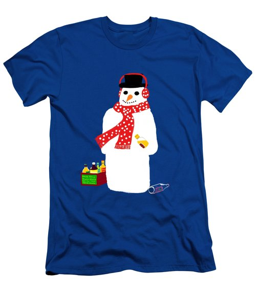 Snowman Men's T-Shirt (Slim Fit) by Barbara Moignard