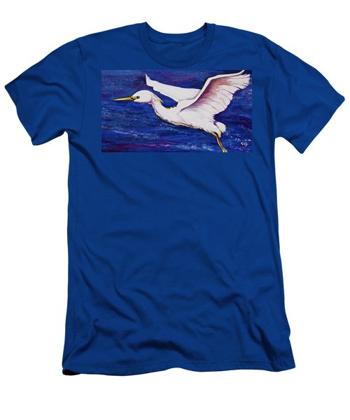 Soaring Over Egret Bay Men's T-Shirt (Athletic Fit)