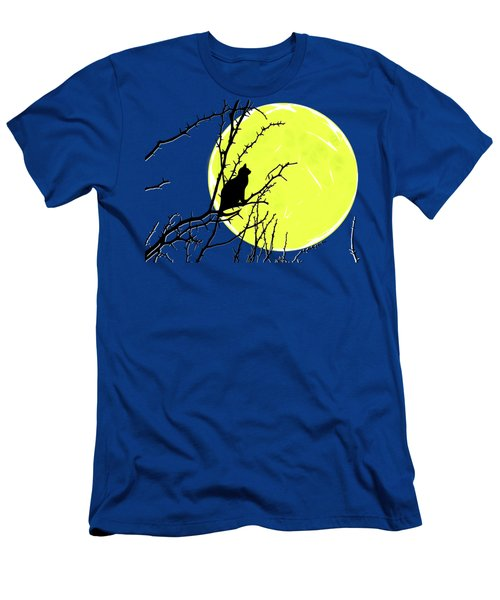Solitary With Golden Moon Men's T-Shirt (Athletic Fit)