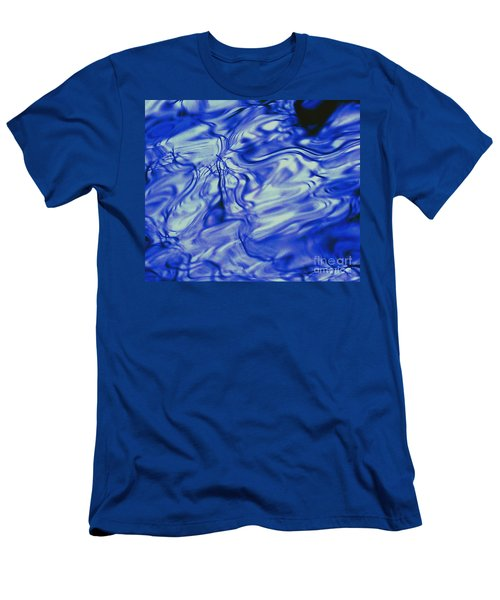 Solvent Blue Men's T-Shirt (Athletic Fit)