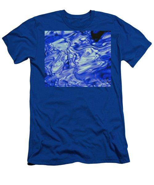 Solvent Blue Men's T-Shirt (Athletic Fit)