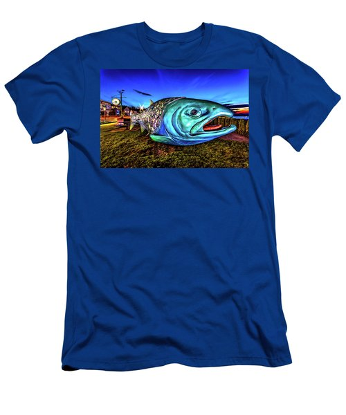 Soul Salmon During Blue Hour Men's T-Shirt (Slim Fit) by Rob Green