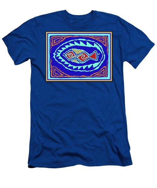 Men's T-Shirt (Athletic Fit) featuring the digital art Southwest Pescado by Vagabond Folk Art - Virginia Vivier