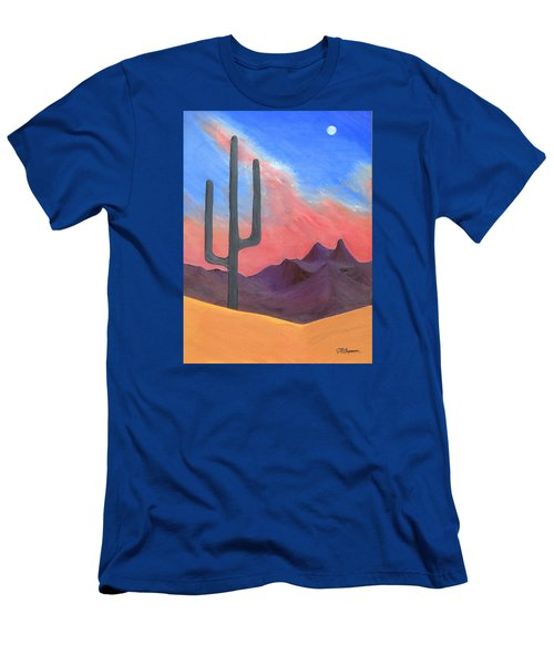 Men's T-Shirt (Slim Fit) featuring the painting Southwest Scene by J R Seymour