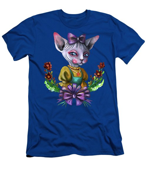 Sphynx Girl Men's T-Shirt (Athletic Fit)