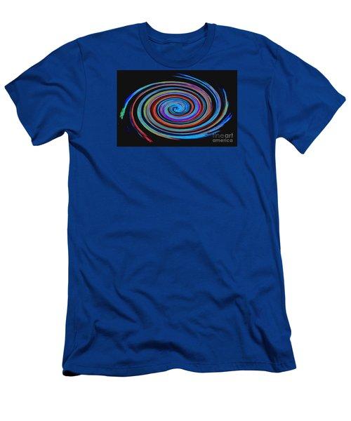 Spiral Spectrum No. 1 - Modern Art Men's T-Shirt (Slim Fit) by Merton Allen