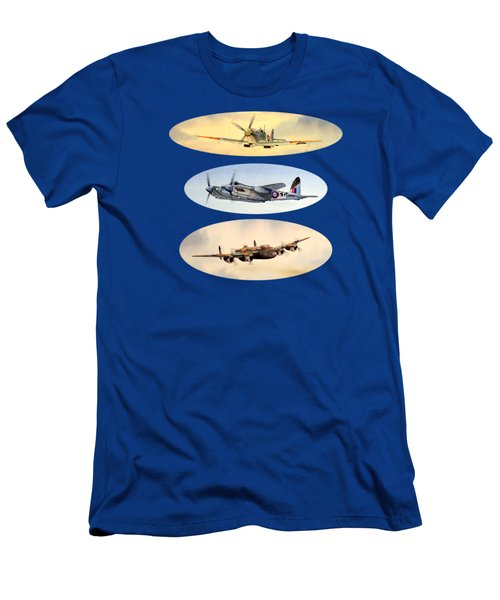Spitfire Mosquito Lancaster Collage Men's T-Shirt (Athletic Fit)
