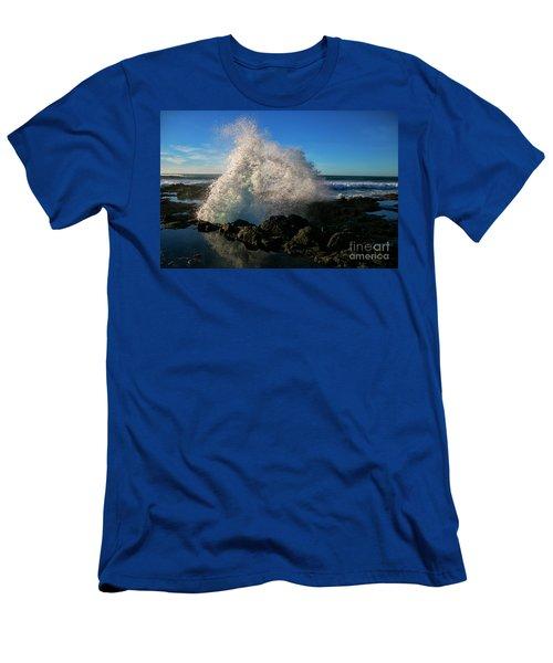 Splashing The Coast Men's T-Shirt (Athletic Fit)