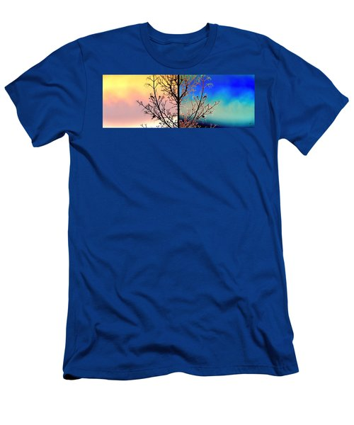 Men's T-Shirt (Slim Fit) featuring the digital art Splendid Spring Fusion by Will Borden