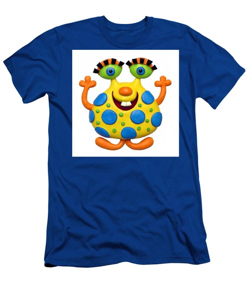 Spotted Yellow Monster Men's T-Shirt (Athletic Fit)