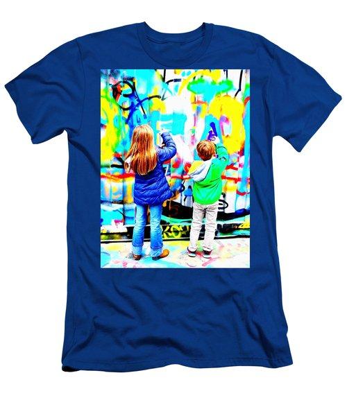 Spray Those Paris Walls  Men's T-Shirt (Athletic Fit)