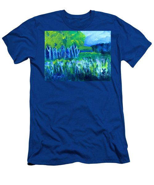 Spring Coming Men's T-Shirt (Slim Fit) by Betty Pieper