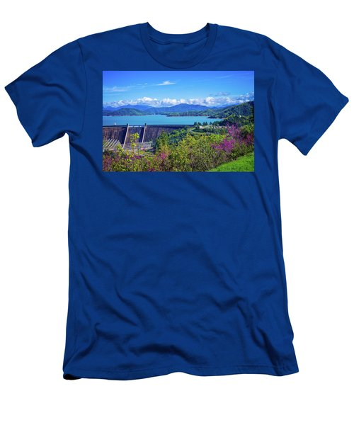 Springtime At Shasta Lake Dam Men's T-Shirt (Athletic Fit)