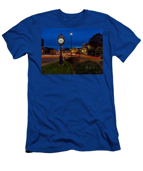 Stadium Clock During The Blue Hour Men's T-Shirt (Athletic Fit)