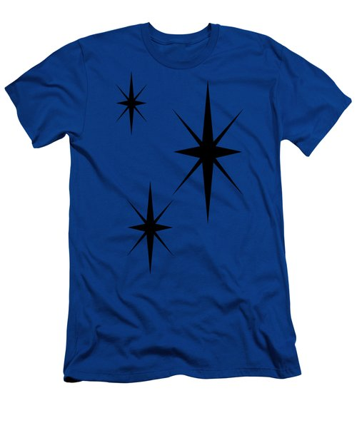 Men's T-Shirt (Athletic Fit) featuring the digital art Starburst 1 Trio  by Donna Mibus