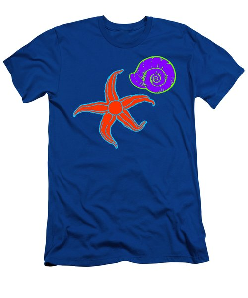 Men's T-Shirt (Athletic Fit) featuring the digital art Starfish And Shell by Jennifer Hotai