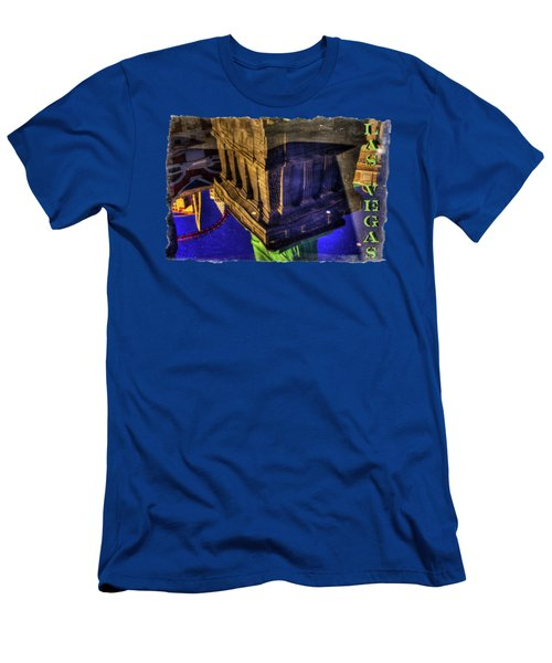 Statue Of Liberty Las Vegas Reflections Men's T-Shirt (Slim Fit) by Roger Passman