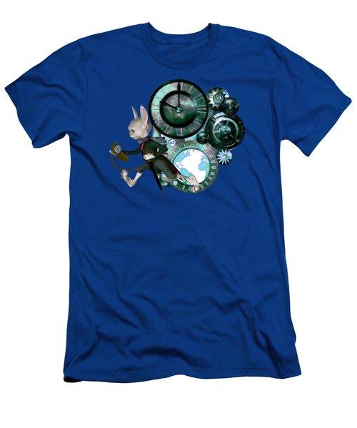 Steampunk White Rabbit Men's T-Shirt (Athletic Fit)