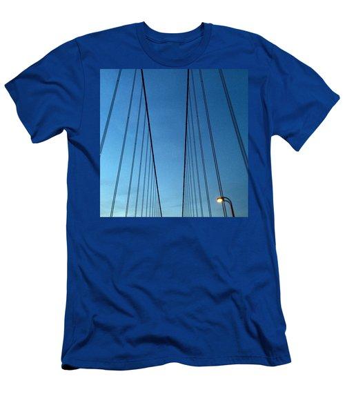 Golden Gate Bridge Cables Men's T-Shirt (Athletic Fit)