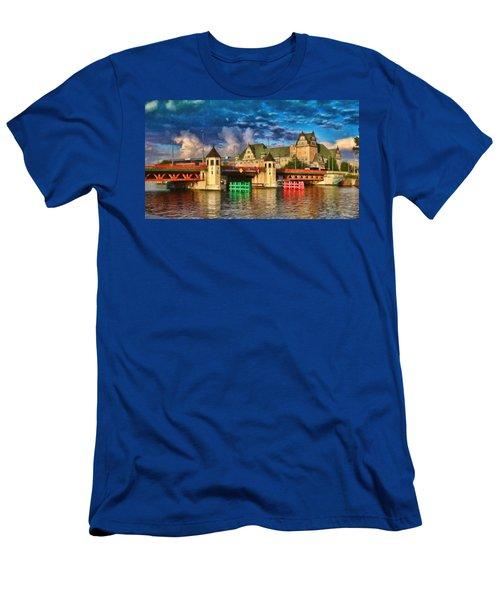 Stettin Bridge - Pol890431 Men's T-Shirt (Athletic Fit)