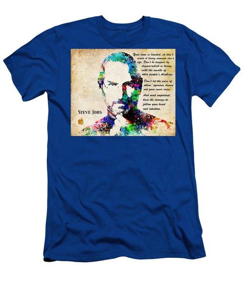 Steve Jobs Portrait Men's T-Shirt (Athletic Fit)