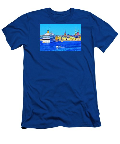 Stockholm Cruise Men's T-Shirt (Slim Fit) by Dennis Cox WorldViews