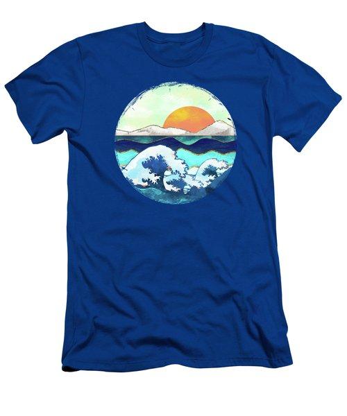Stormy Waters Men's T-Shirt (Slim Fit) by Spacefrog Designs